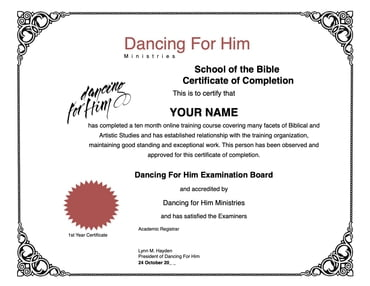 "BIBLE SCHOOL LEVEL 1 and DFH LEVEL 3 - Online Courses ""PRE"" Payment Plan"