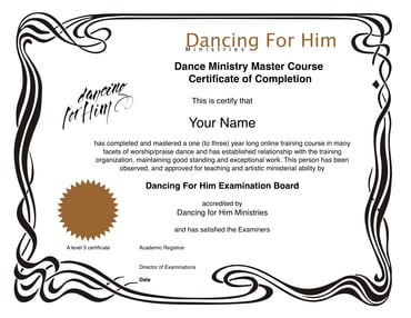 Level 3 Dance Ministry Master Course 3 Year Extended Track