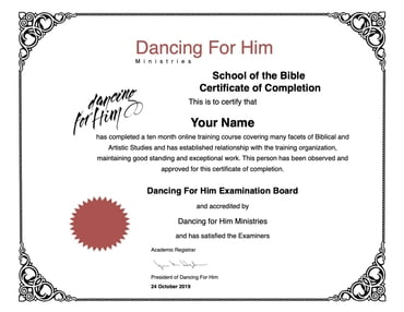 BIBLE SCHOOL LEVEL 1 and DFH LEVEL 3 - Online Courses Paid In Full