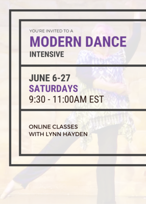 JUNE 6-27 MODERN DANCE INTENSIVE