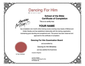 Dancing For Him School of the Bible - Level 1
