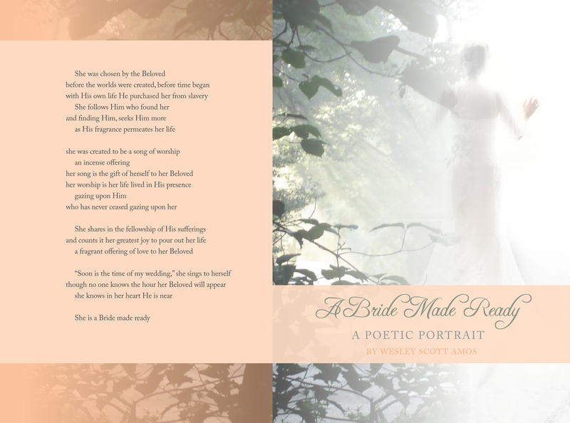 A Bride Made Ready - A Poetic Portrait - Book