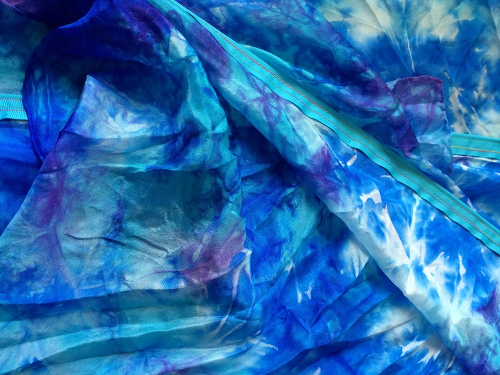 Hand-Dyed Silk Flags (Set of 2) - Dancing For Him Ministries